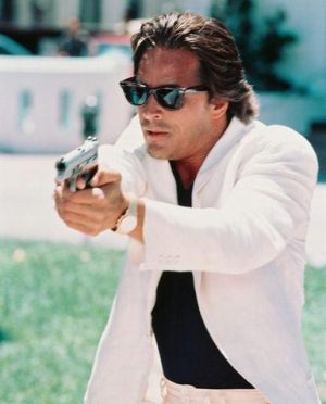 Shot himself a bar when he was only three. Sonny, Sonny Crockett! King of the Wild Frontier!