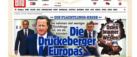 Even German right-wing tabloid BILD took a time-out from antisemitism to call David Cameron a slacker on helping non-white people.
