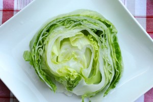 Don't eat sad, filthy bags of pre-cut salad. Veg out with your wedge out.