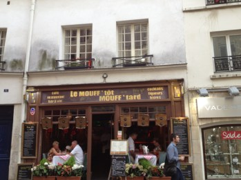The restaurant from the street.