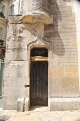 Charming little additional door on front of house.