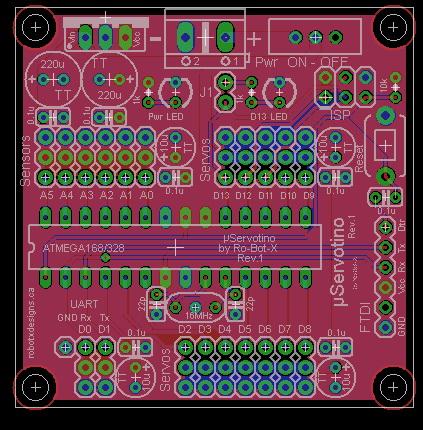 uServotino robot controller (2/6)