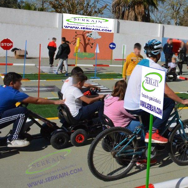 Isleta Tapiz de Césped Artificial Verde educación vial infantil
