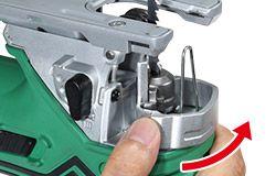 Sierra Caladora CJ160V cambio de hoja sin llave