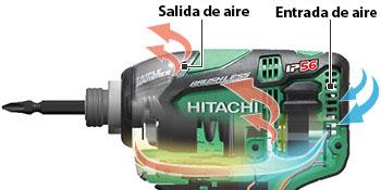 Atornillador de Impacto a Batería de Litio WH18DBDL2 flujo de aire