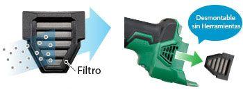 Mini-Amoladora a Batería de Litio G18DBBL filtro malla