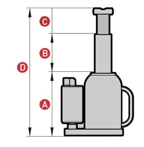 Gato Oleoneumático de Botella Portátil BRA30 Plano