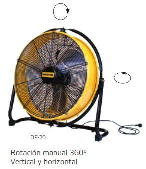 Ventilador Profesional de Suelo DF-20 rotacion
