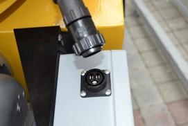 El motor está conectado al Panel de mandos con un conector de conexión rápida, para facilitar el mantenimiento.
