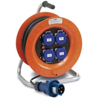 Enrollacables Industrial con Disyuntor 50m 3x1,5 H07RN-F IP67