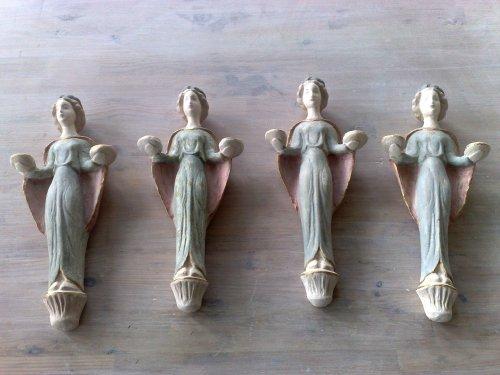 4 änglar i gips