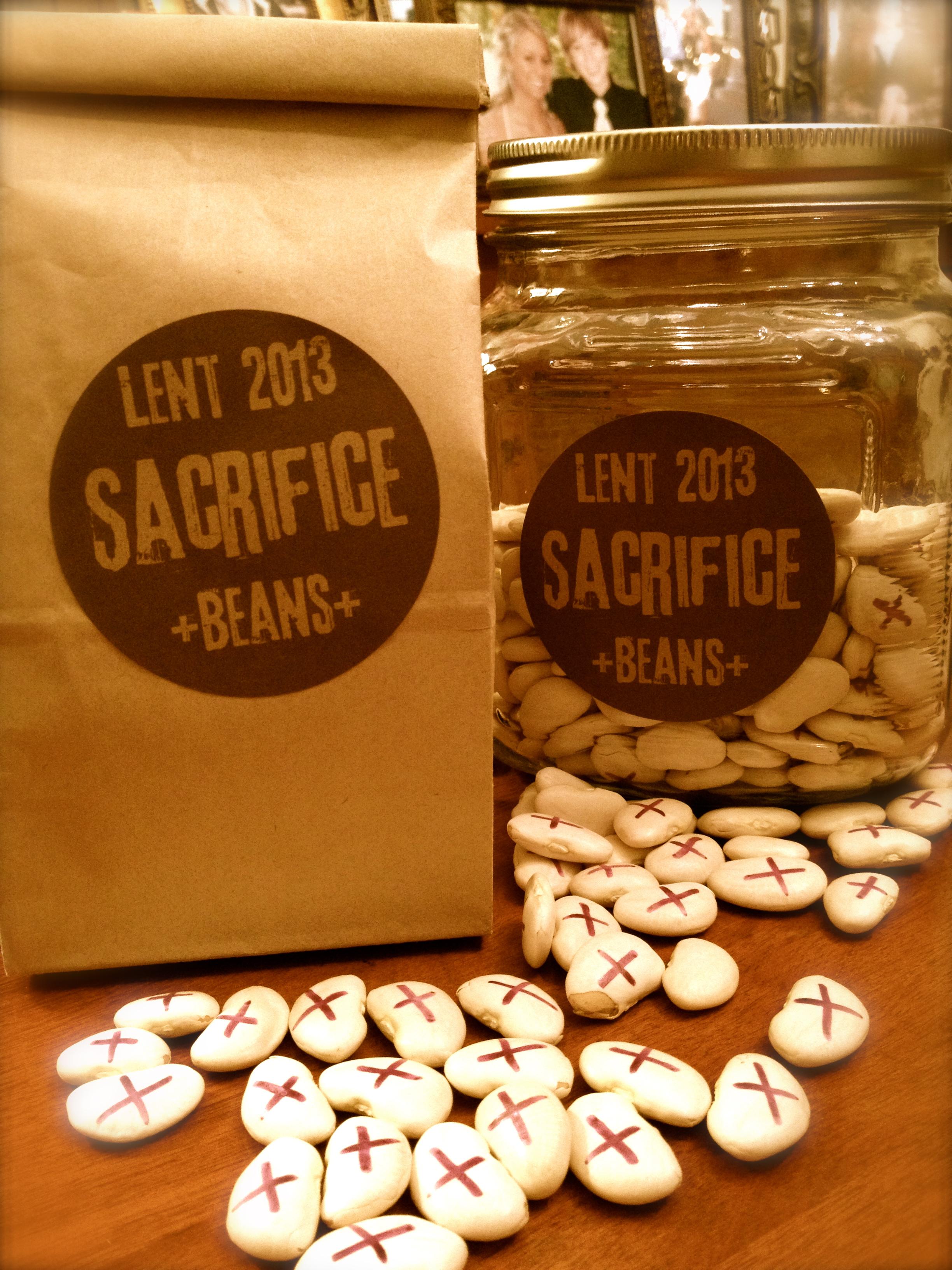 Time To Spill The Beans Lenten Sacrifice Beans For Kids