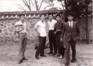 안낙영, 오성준, 최종인 선배들, 서울 비원에서 1969년