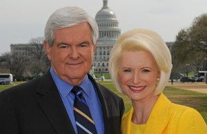 New & Callista Gingrich at Capitol