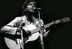 singing poet, Leonard Cohen