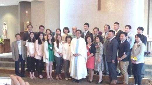 아틀란타 순교자 성당 2014년 부활 영세, 세례식