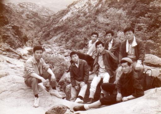 아미고 양건주, 김진환, 김철수, 이경우, 이윤기, 박창희, 김태일.. 과천에서 관악산으로..  1968년 봄