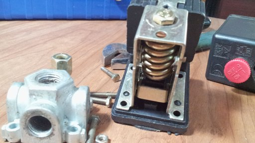 fully disassembled air pressure switch