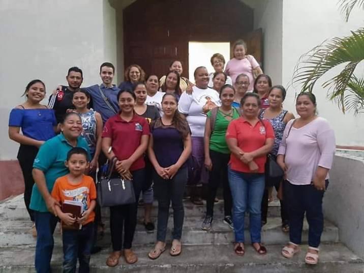 Con los agentes de pastoral parroquial