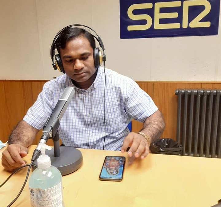 Entrevista al P. Aruno Kumar Guru, CM. en Hoy por Hoy Teruel en Cadena SER Teruel (16/08/2021).