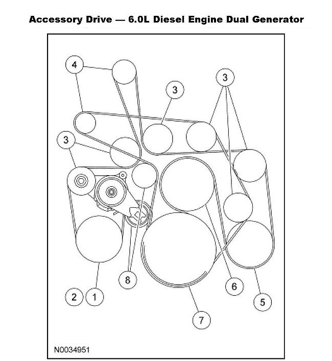 Ford F L Power Stroke V Serpentine Belt Diagram