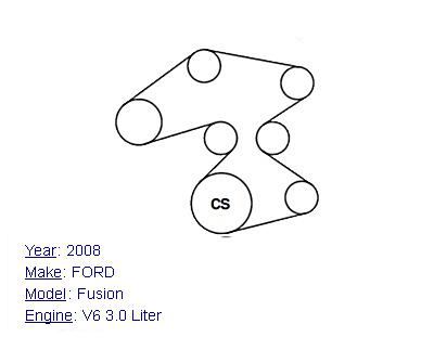 2007 ford fusion v6 3 0l serpentine belt diagram