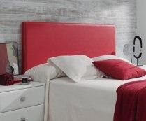 Cabecero cama liso polipiel rojo