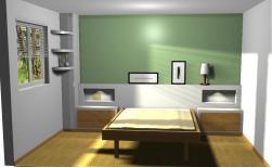 Cabecero de cama de pladur