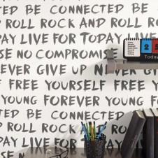 Papeles pintados dormitorios chicos letras
