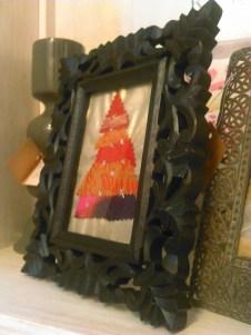 Portafotos madera negro barroco Navidad
