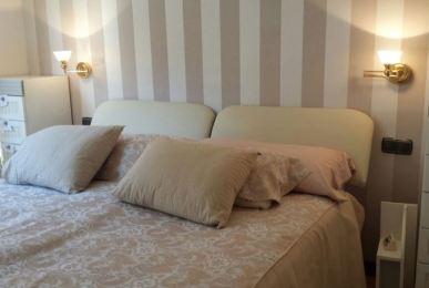Reformas y decoraci n de interiores en le n serranos studio - Papel pintado cabecero cama ...