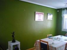 Comedor en verde antes de decorar