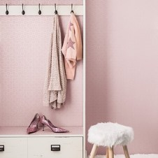 Papel pintado rosa irisado no tejido