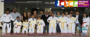 Atletas serrano do Karatê homenageados na Câmara de Vereadores