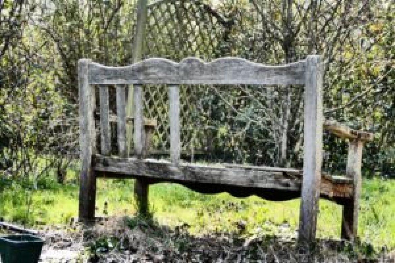 Vieux banc en bois