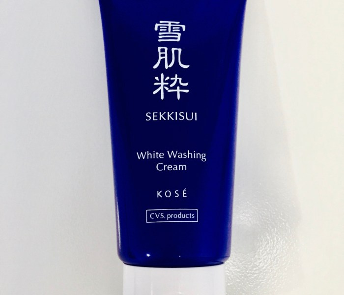 S Review:KOSÉ Sekkisui White Washing Cream 高絲雪肌粹美白洗顏乳