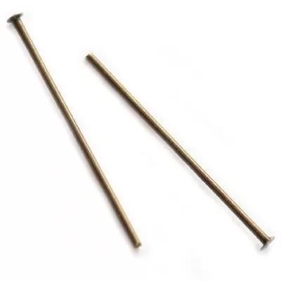 Ac cu cap 2,5cm, placat cu alama antichizata, 20 buc.