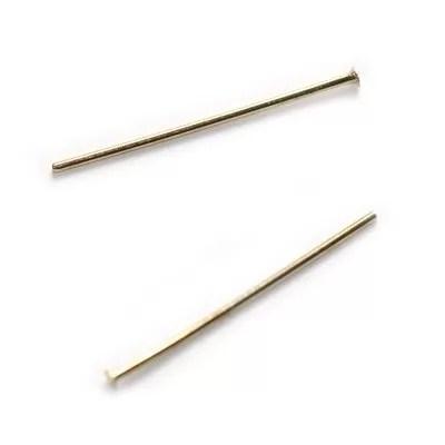 Ac cu cap 2.5cm, placat cu aur, 20 buc.