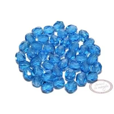 Margele Fire Polish 3mm : Dark Capri Blue, 80 buc