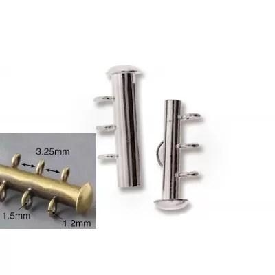 Inchizatoare Slide 16mm cu 3 bucle verticale, placata cu argint
