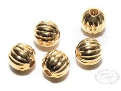 Margea metalica ornamentala rotunda, 6mm, placata cu aur