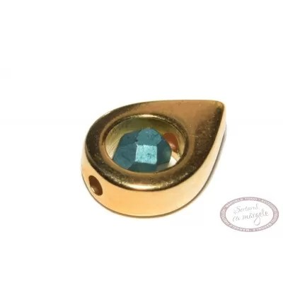 Rama decorativa pt. margele, 11.7 x 8.9mm, placata cu aur