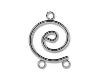 Spirala cu doua bucle, placata cu argint, 2 buc.