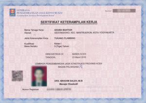 Klasifikasi Sertifikat Keterampilan LPJK