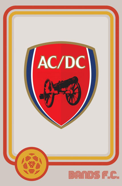 Tim Burgees Bands F.C. Football Logos AC/DC Band