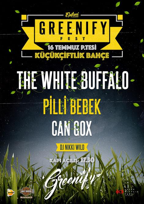 The White Buffalo Greenify 2018 Konser Afişi Posteri