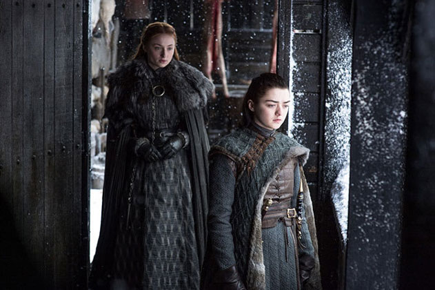Arya Stark and Sansa Game of Thrones