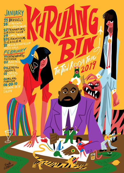 Khruangbin THE THIRD ROOM TOUR Dates and Poster