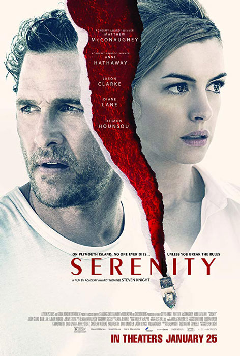 Serenity New Trailer Lead Role Matthew McConaughey and Anne Hathaway Thriller