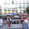 Salida del metro en la Plaza de Chueca